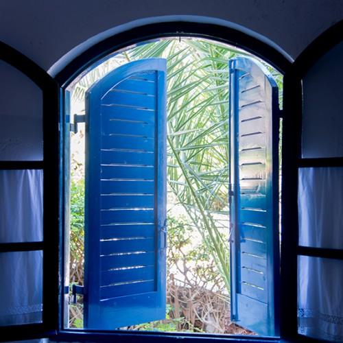 blue sun shutters ippocampi crete greece charming hotel