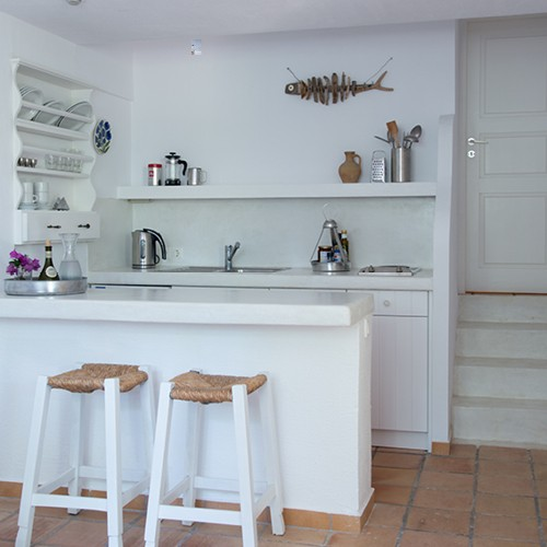 ippocampi charme hotel kitchen stylish white two room apartment